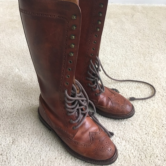 Cole Haan Vintage Lace Up Brown Leather